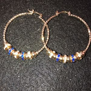 14k gold filled beaded earrings with diamond cut